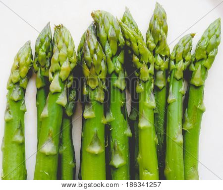 Asparagus Vegetable, Faded Vintage Look