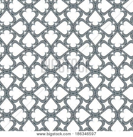 Abstract geometric pattern with trigon. A seamless background. Gray and white texture.