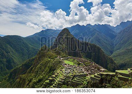 Green Terraces In Machu Picchu