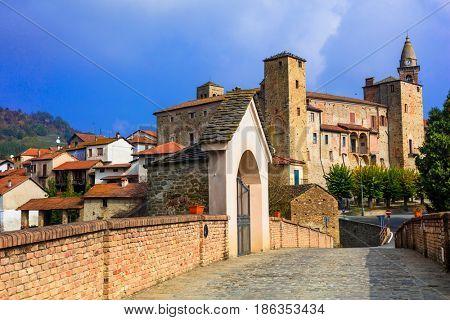 Medieval Bormida monastery and castle in regione Asti in Piemonte. Italy