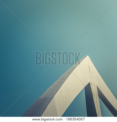 Abstract Contemporary Architecture Detail On A Bridge