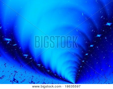 Fractal image depicting an abstract tornado.