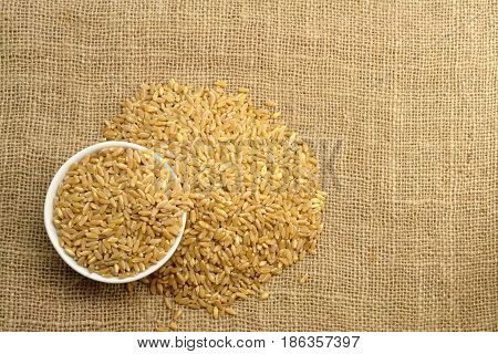 Wheat on Sackcloth (Photo taken from top view)