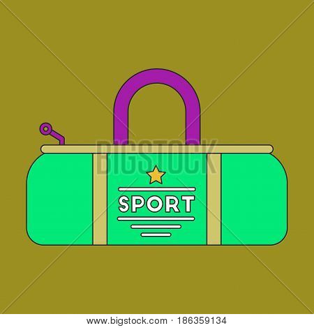 flat icon on stylish background Sports bag