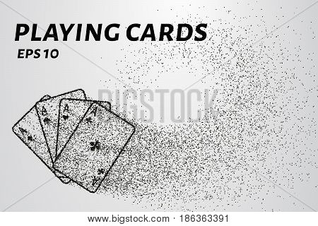 Playing Cards Of The Particles. Playing Cards Consists Of Small Circles And Dots. Vector Illustratio