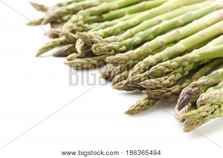 Green Asparagus Isolated On A White Background