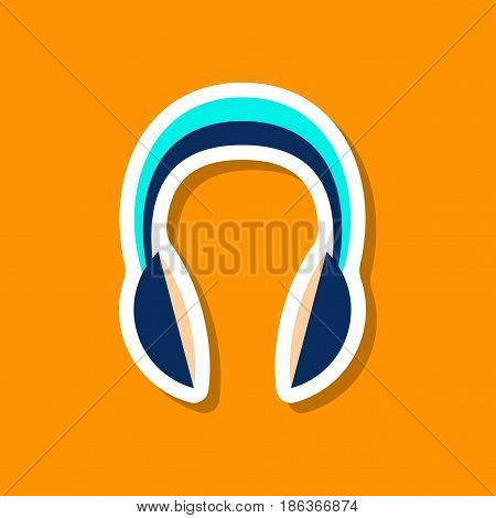 paper sticker Technology gadget headphones music meloman
