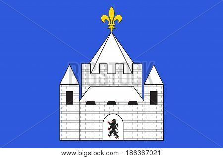 Flag of Provins is a commune in the Seine-et-Marne department in the Ile-de-France region in north-central France
