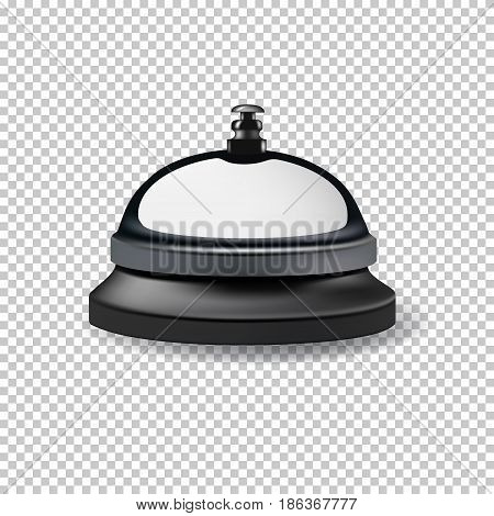 Vector realistic reception bell isolated on transparent background.