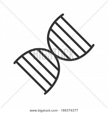 DNA molecule linear icon. Thin line illustration. Vector isolated outline drawing