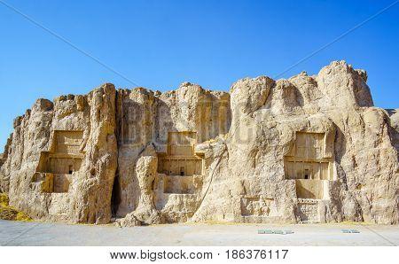View on Naqsch-e Rostam necropolis by Shiraz in Iran