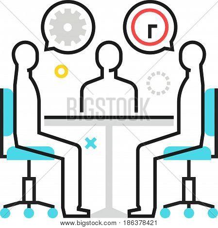 Color Box Icon, Meeting Illustration, Icon
