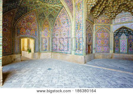 View of Nasir al-Mulk Mosque in Shiraz, Iran