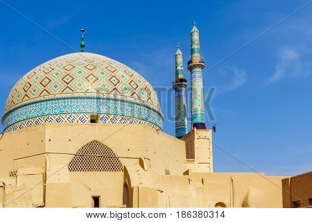 View of Jame Mosque of Yazd In iran