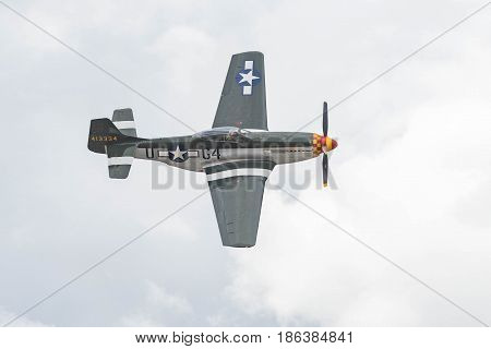 North American P-51D Mustang G4-u On Display