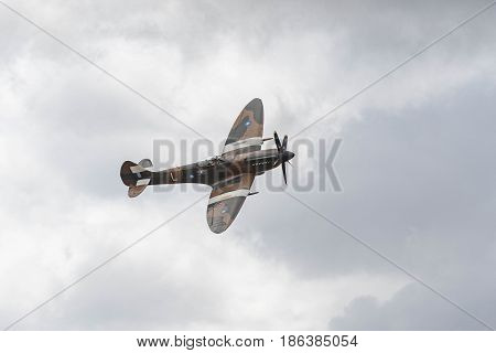 Vickers Supermarine Spitfire On Display