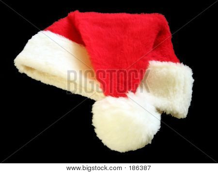 Santa Hat (black Background)