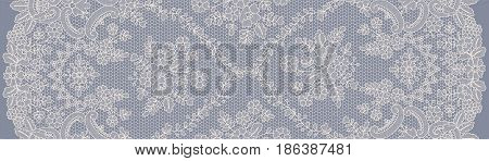 Seamless beige and gray lace background with floral pattern