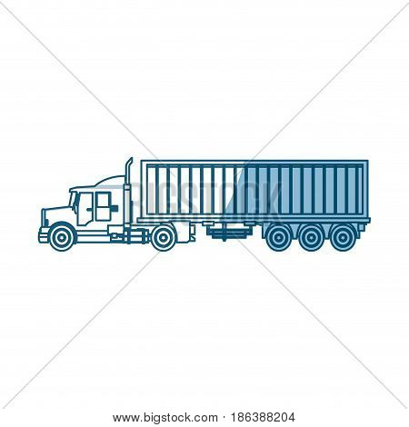 truck container shipping cargo - shadow vector illustration