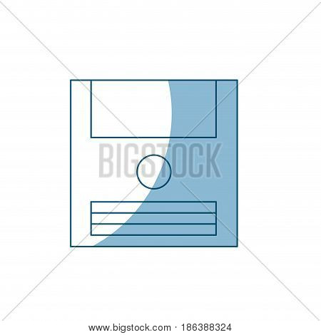 disk floopy backup technology retro vector illustration