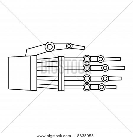 hand of robot bionic mechanical science vector illustration