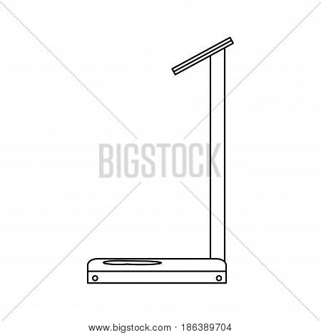 industrial weight scale machine image vector illustration