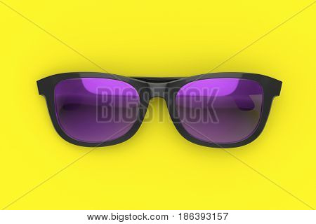 Sun Glasses On Color Background