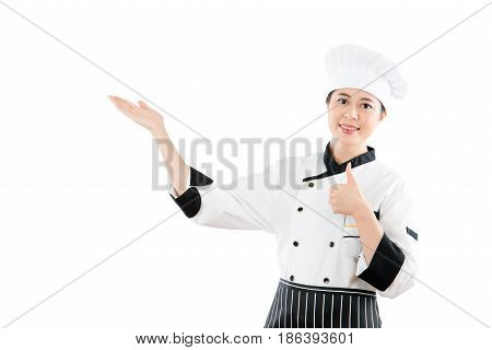 Chef Showing And Presenting Thumbs Up