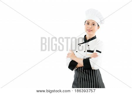 Confident Girl Woman Chef Cross Hand Arm