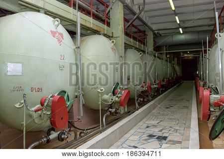 Industrial Tanks For Storage And Maturation Of Champagne Wines