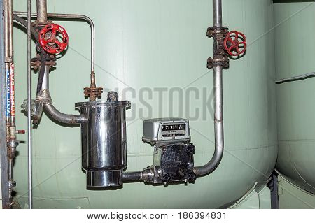 Pumping System Of Accounting For The Volume Of The Products Of The Winery