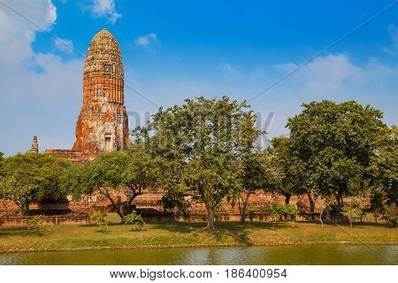 Wat Phra Ram Temple at  Ayuthaya Historical Park, a UNESCO world heritage site in Thailand