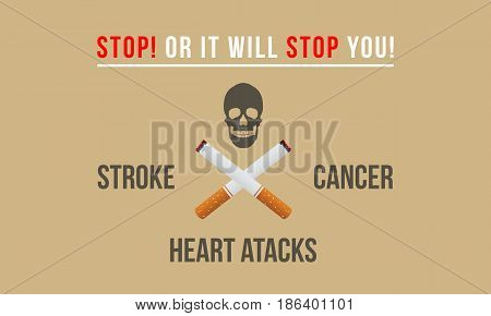 Collection stock no tobacco day banner style vector flat
