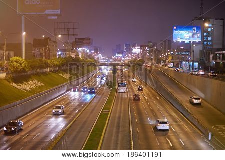 High Way On Lima Peru