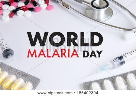 Malaria Mosquito Sucking Blood World Malaria Day Zika Virus Alert