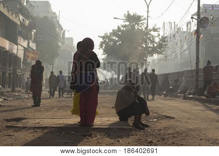 People In Chandni Chowk