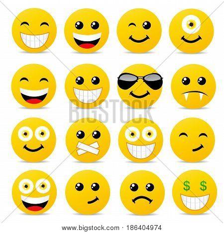 Modern yellow laughing happy smile illustration art