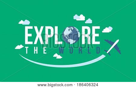 Collection stock of travel background vector art