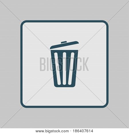 Trash can icon. Delete, Move to Trash, clear the disk space. Vector illustration.