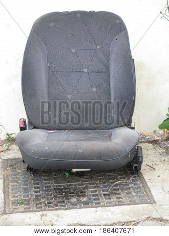 Abandoned Car Seat on ground in Andalusian Village