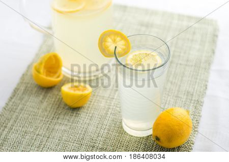 Fresh lemonade summer drink. Lemonade is traditionally a homemade drink made with squeezed lemon water and sugar a simple recipe for a quick refreshing summer drink packed with vitamin c.