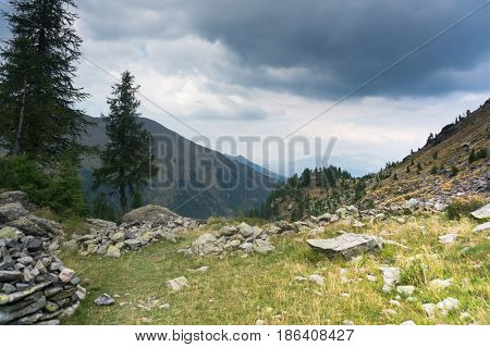 Dramatic Mountain Landscape