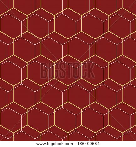 Geometric abstract vector hexagonal background. Geometric modern ornament. Seamless modern pattern