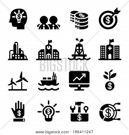 Stock market & Stock Exchange icon set Vector illustration Graphic design