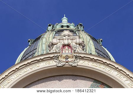 Municipal House details  Prague Czech Republic Europe