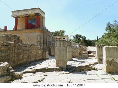 The Customs House of Knossos, Archaeological Site of Knossos, Crete Island, Greece