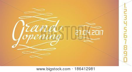 Grand opening vector illustration background for new store retail place. Template design element for opening event can be used as banner