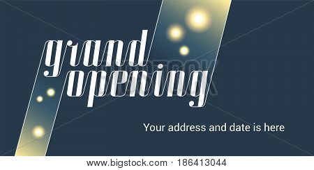 Grand opening vector illustration. Template design of banner or flyer for opening ceremony