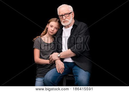 Grandfather And Teenage Granddaughter