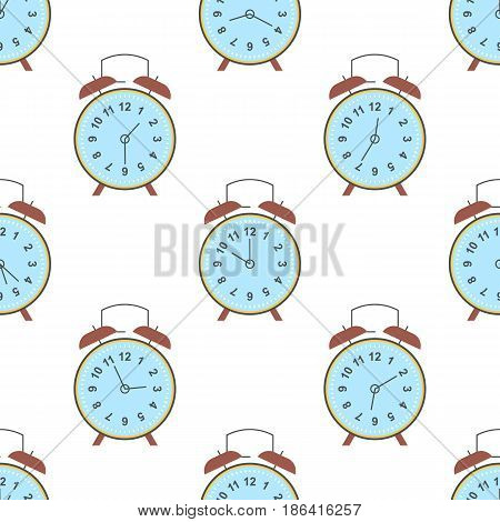 Clock seamless pattern. Endless watch background. Timer design backdrop. Time measurement illustration. Flat graphic design. Dial elements silhouettes